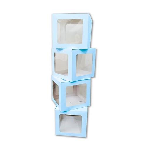 - 10'lu Küçük 17 cm Şeffaf Kutu Mavi