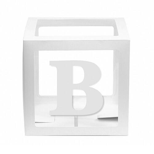 - 10'lu Şeffaf Kutu Harf Beyaz B