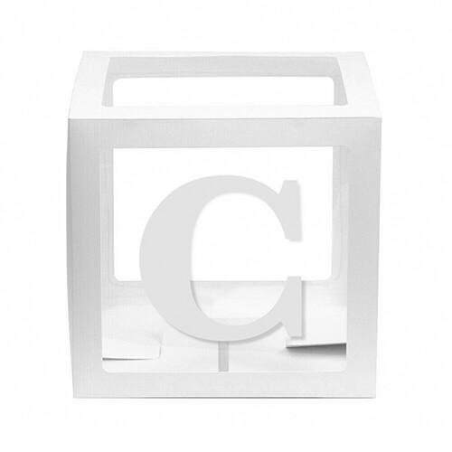 - 10'lu Şeffaf Kutu Harf Beyaz C