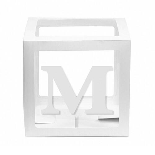 - 10'lu Şeffaf Kutu Harf Beyaz M