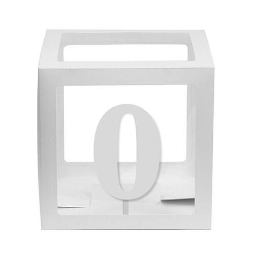 - 10'lu Şeffaf Kutu Rakam Beyaz 0