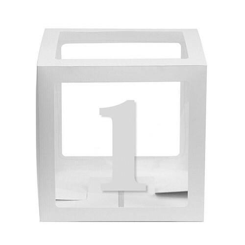 - 10'lu Şeffaf Kutu Rakam Beyaz 1