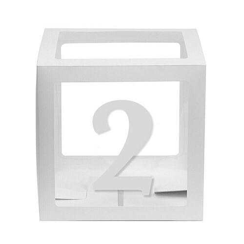 - 10'lu Şeffaf Kutu Rakam Beyaz 2