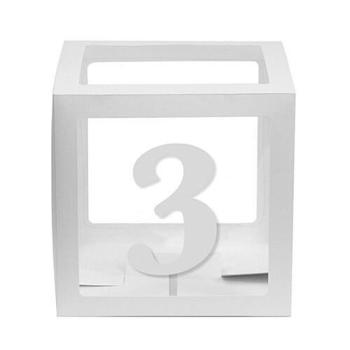 - 10'lu Şeffaf Kutu Rakam Beyaz 3