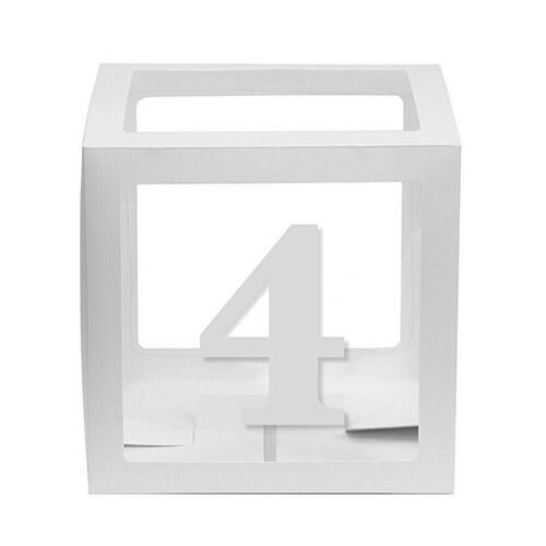 - 10'lu Şeffaf Kutu Rakam Beyaz 4
