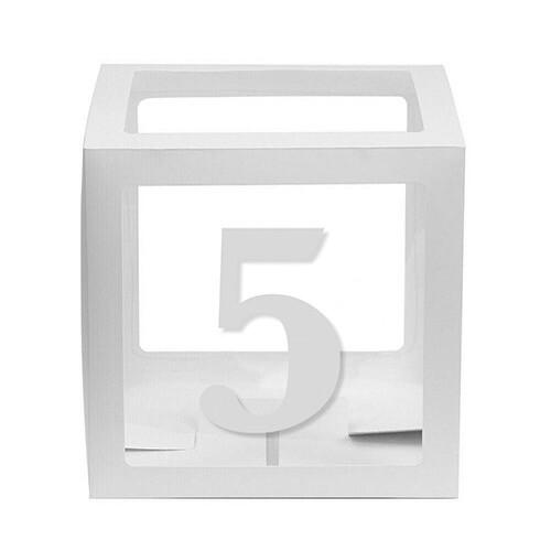 - 10'lu Şeffaf Kutu Rakam Beyaz 5