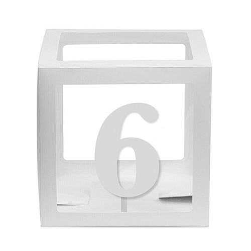 - 10'lu Şeffaf Kutu Rakam Beyaz 6