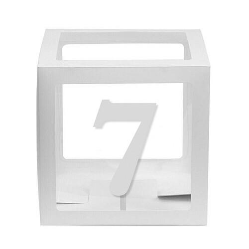 - 10'lu Şeffaf Kutu Rakam Beyaz 7