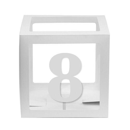 - 10'lu Şeffaf Kutu Rakam Beyaz 8