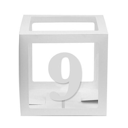 - 10'lu Şeffaf Kutu Rakam Beyaz 9