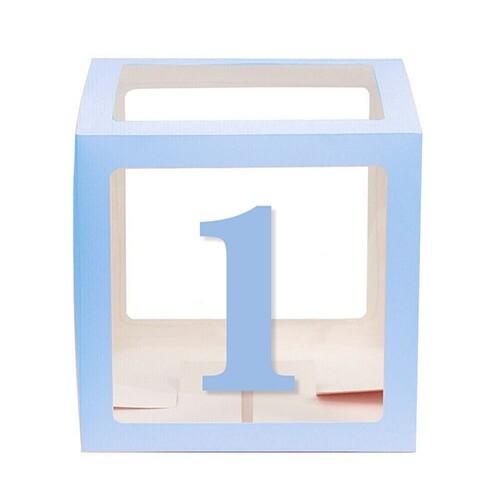 - 10'lu Şeffaf Kutu Rakam Mavi 1