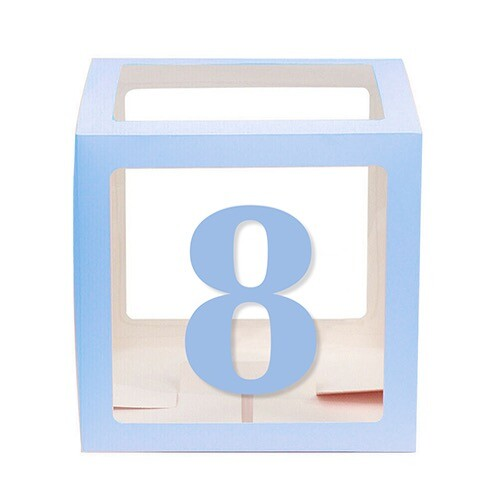 - 10'lu Şeffaf Kutu Rakam Mavi 8