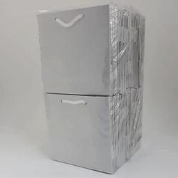- 11*11 Karton Çanta 50'li Düz Beyaz