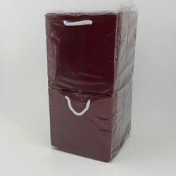 - 11*11 Karton Çanta 50'li Düz Bordo