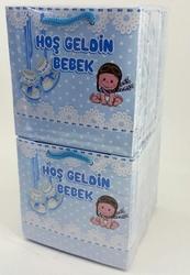 - 11*11 Karton Çanta 50'li Mavi bebekli