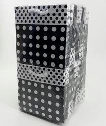- 11*11 Karton Çanta 50'li Puantiyelli Siyah