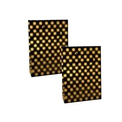 - 11*11 Karton Çanta 50'li Siyah Gold Puantiye