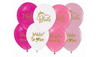 - B.E. 12 İNÇ BASKILI BRIDE TO BE PASTEL (1+1) BALON
