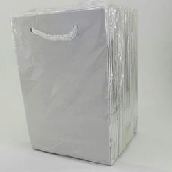 - 12*17 Karton Çanta 25'li Düz Beyaz