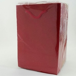 - 12*17 Karton Çanta 25'li Düz Kırmızı