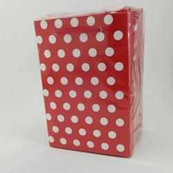 - 12*17 Karton Çanta 25'li Kırmızı Puantiyeli
