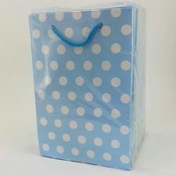 - 12*17 Karton Çanta 25'li Mavi Puantiyeli
