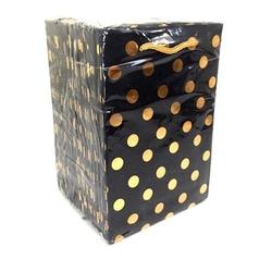 - 12*17 Karton Çanta 25'li Siyah Gold Puantiye