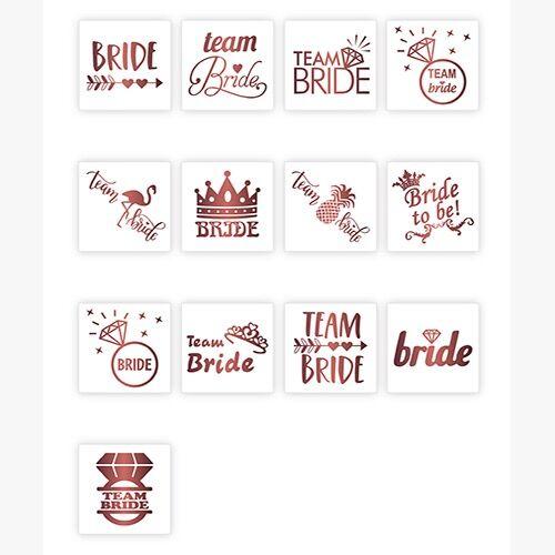 13'lü Bride To Be Dövme Rose