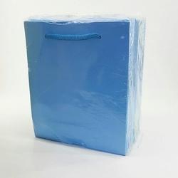 - 14*17 Karton Çanta 25'li Düz Mavi