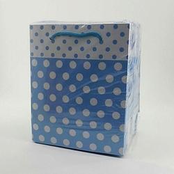 - 14*17 Karton Çanta 25'li Mavi Puantiyelli
