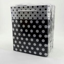 - 14*17 Karton Çanta Puantiyeli Siyah 25'Lİ Çanta