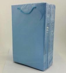 - 17*25 Karton Çanta 25'li Düz Mavi