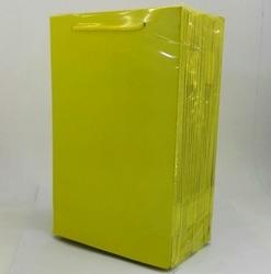 - 17*25 Karton Çanta 25'li Düz Sarı