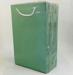 - 17*25 Karton Çanta 25'li Düz Yeşil