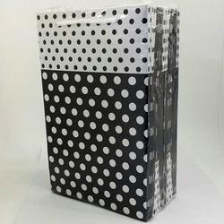 - 17*25 Karton Çanta 25'li Siyah Puantiye