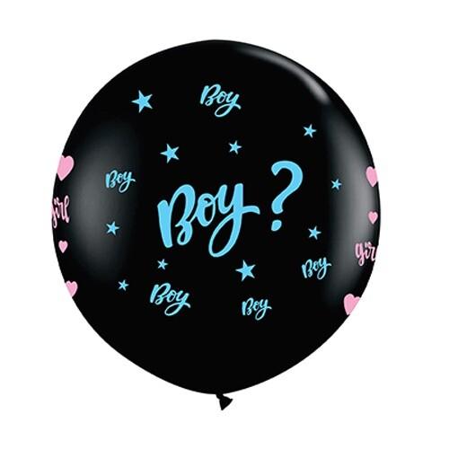 - 18 inç Mavi Girl or Boy Cinsiyet Balon