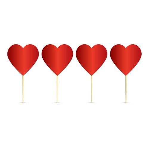 - 20'li Kalp Kırmızı Kürdan
