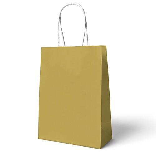 - 22x24 Büküm Saplı Çanta 25'li Gold