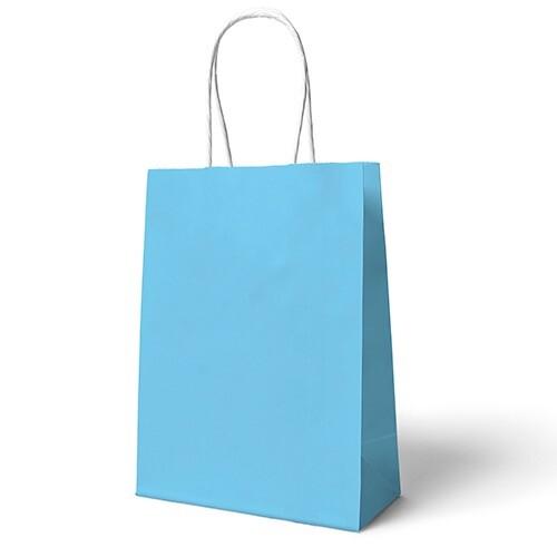 - 22x24 Büküm Saplı Çanta 25'li Mavi