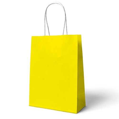 - 22x24 Büküm Saplı Çanta 25'li Sarı