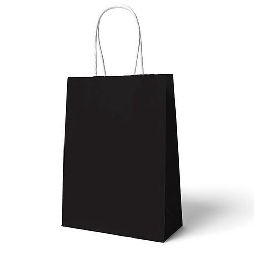 - 22x24 Büküm Saplı Çanta 25'li Siyah