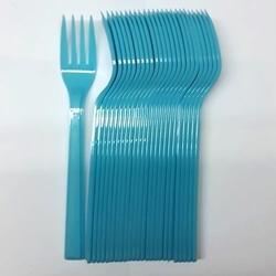 25'li Plastik Mavi Çatal - Thumbnail