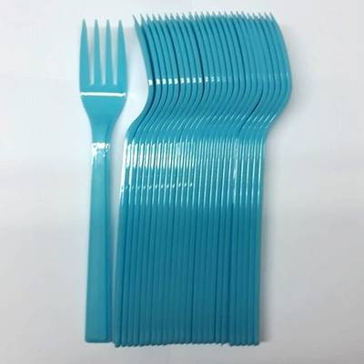 25'li Plastik Mavi Çatal
