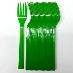 - 25'li Plastik Yeşil Çatal
