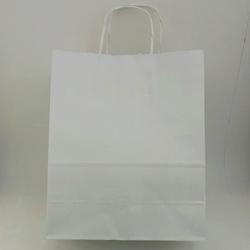 - 25X31 Büküm Saplı Çanta 25'li Beyaz