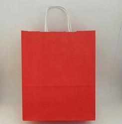 - 25X31 Büküm Saplı Çanta 25'li Kırmızı