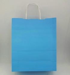 - 25X31 Büküm Saplı Çanta 25'li Mavi