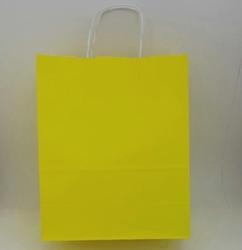 - 25X31 Büküm Saplı Çanta 25'li Sarı