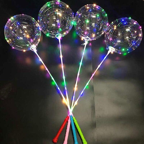 - 3 Pilli Fonksiyonlu Şeffaf Balon Çubuk Set