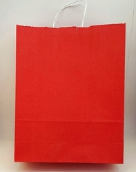 - 32x40 Büküm Saplı Çanta 25'li Kırmızı